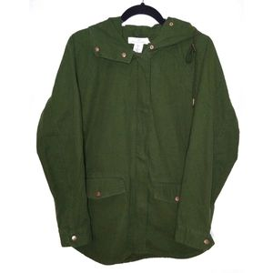 L.O.G.G. H&M Army Green Zip Up Jacket SZ 6 NWT